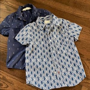 Set of 2 boys button front shirts